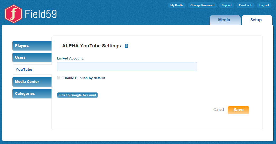 Publishing videos to YouTube - YouTube Settings - Field59 Manager