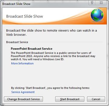 How to broadcast a PowerPoint presentation with a live stream