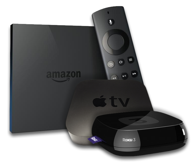 OTT Total Access Devices, Amazon Fire, Apple TV, ROKU
