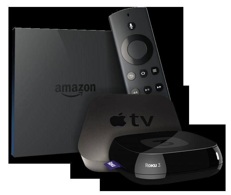 OTT Total Access Devices, Amazon Fire, Apple TV, ROKU