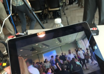 Exact Sciences / Field59 live stream as viewed on an iPad